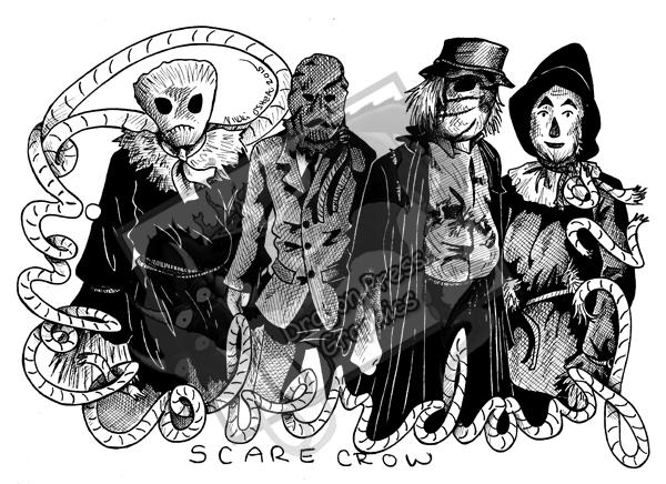Inktober Day 29 - Scarecrows by DragonPress