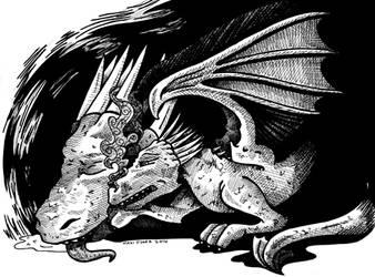 SPN AU BB - Dragons by DragonPress