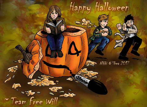 Supernatural Team Free Will Chibi Halloween 2017