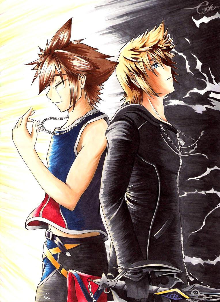 Light and Darkness [Kingdom Hearts-SoRoku] by SeraphEdo