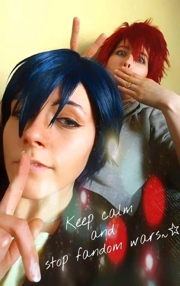 Keep calm and stop fandom wars by SeraphEdo