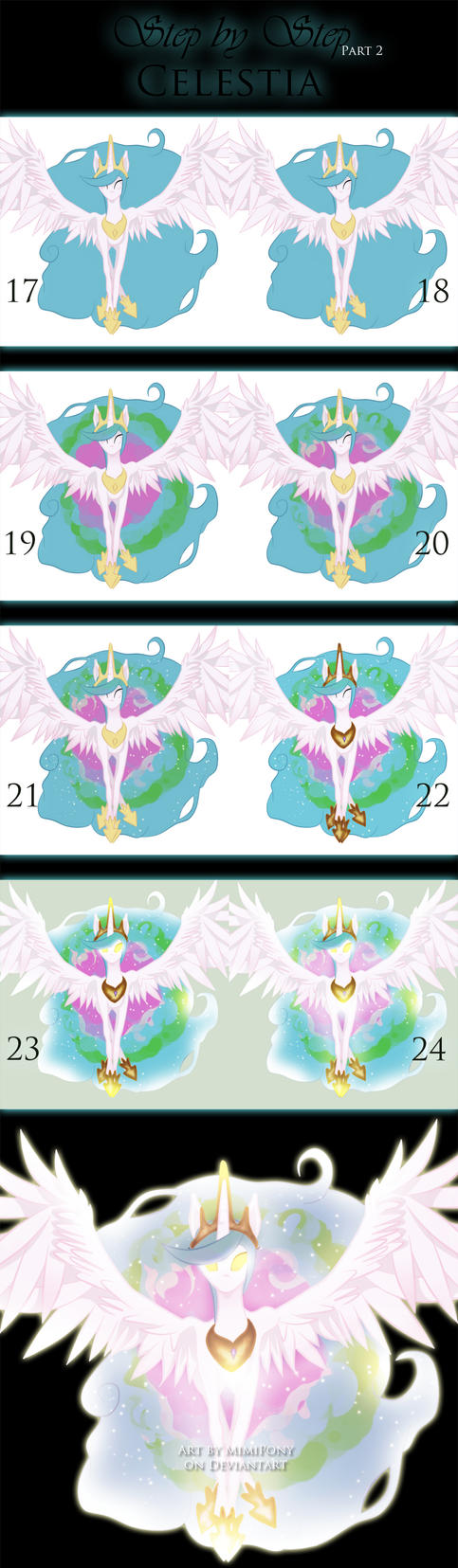 Step by Step : Celestia (Part 2) by MimiPony