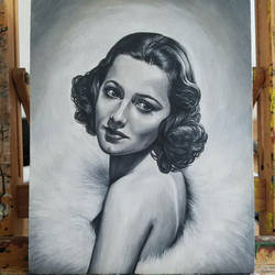 Olivia- Oil Painting On Wood Panel by MaxduPlantier
