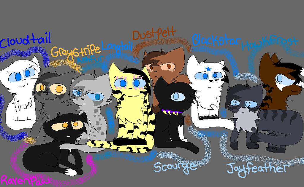 SOME of my favorite Warrior cats by WarriorsC222
