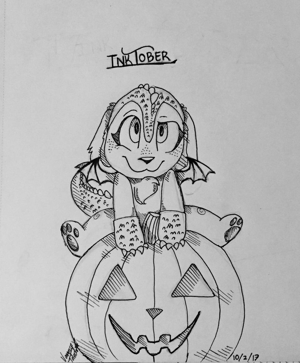 InkTober #1 Fluffy Dragon~ by veeeester400