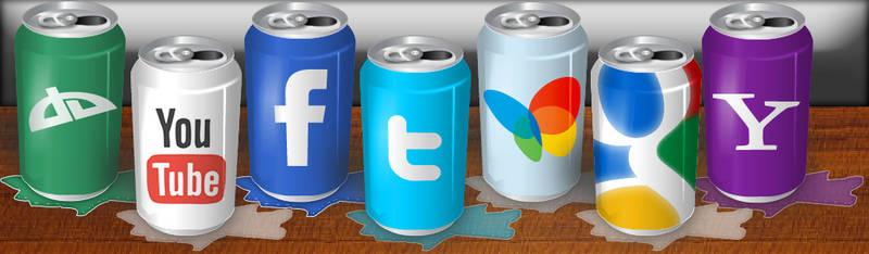 Social Can Icons by erickhcabrera