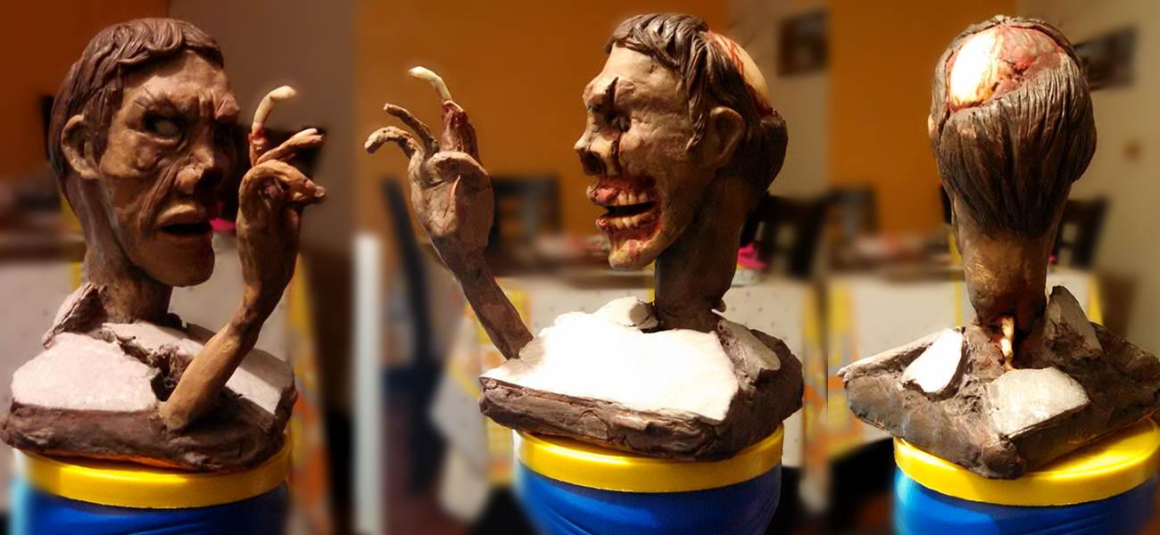 Busto Zombie by erickhcabrera