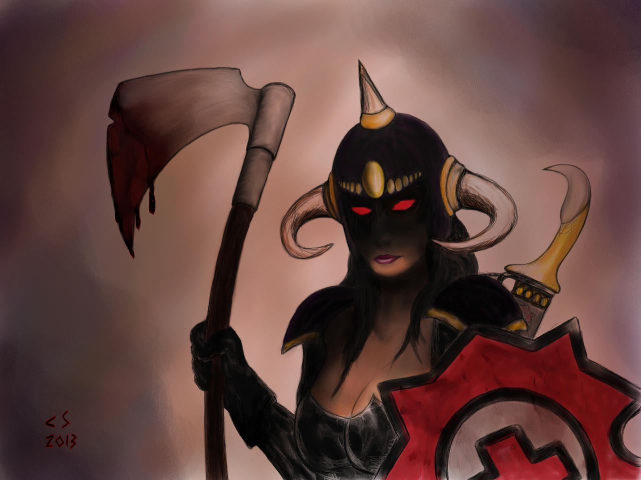 Lady Death Dealer by 147CombatMedic
