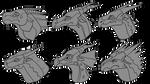 Pyrrhia trybes headshot . I drew them from memory. by hugsloves