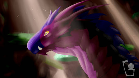 Dragon (shading practise) by hugsloves