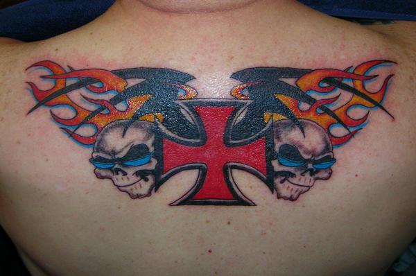 cross tattoos for men