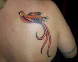 Orange Swallow by dethzen