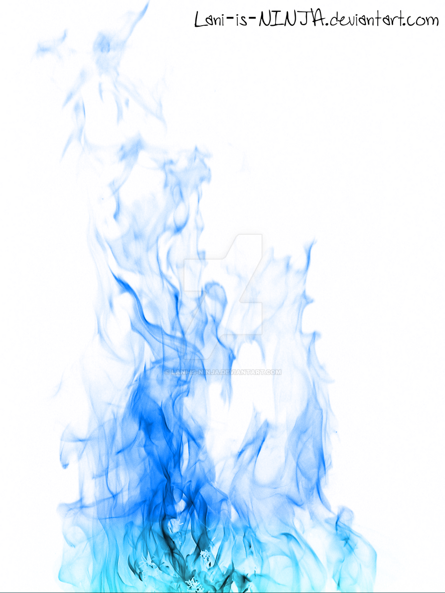blue flames with white background by laniisninja on