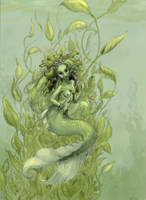 The Lake mermaid by DiosaDeDelirium