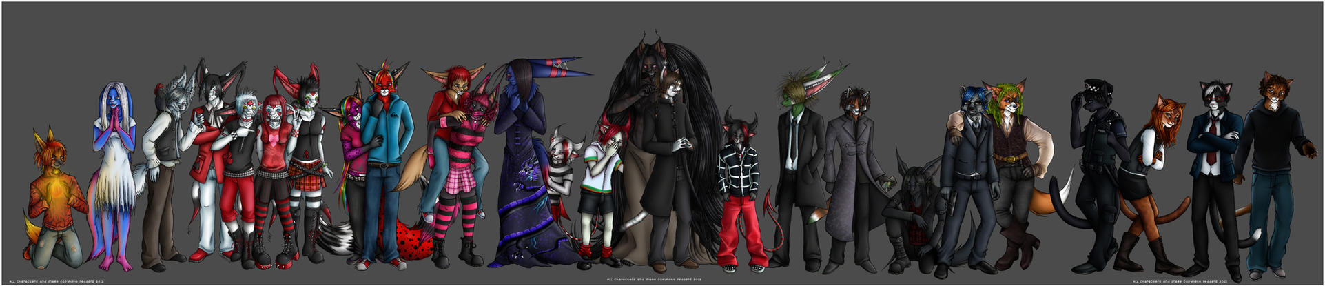 The Entire Gang by redderz