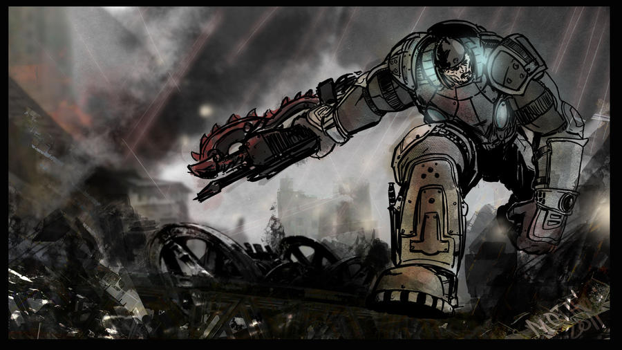 Battle Artist Gears of War by mothbot