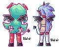 PSG Demon Sisters Sprites by starfire-wolf