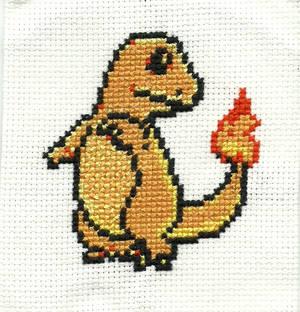 #004 Charmander Cross Stitch