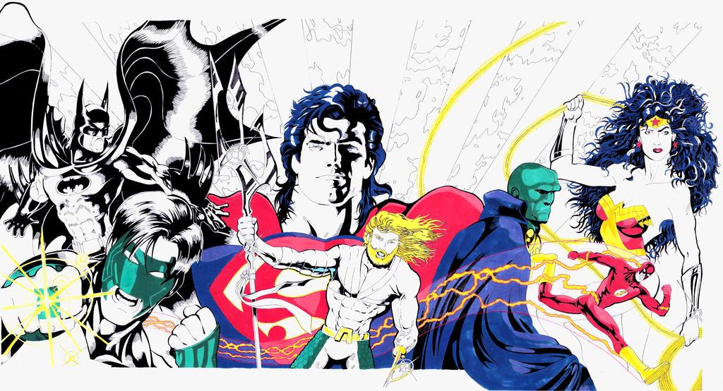 Justice League (Comics from Kathmandu) by RujanSingh