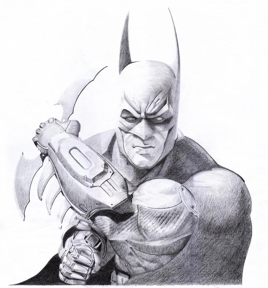 Batman Pencils Arkham Asylum 2 by RujanSingh