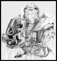 Halo Master Chief by RujanSingh