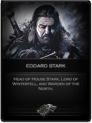Eddard Stark Card by R1EMaNN