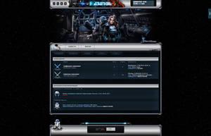 Star Wars Website Design by R1EMaNN