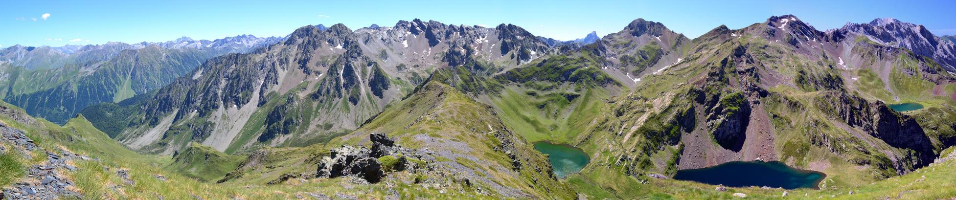 Les 3 lacs vus depuis le Sanctus by Aude-la-randonneuse