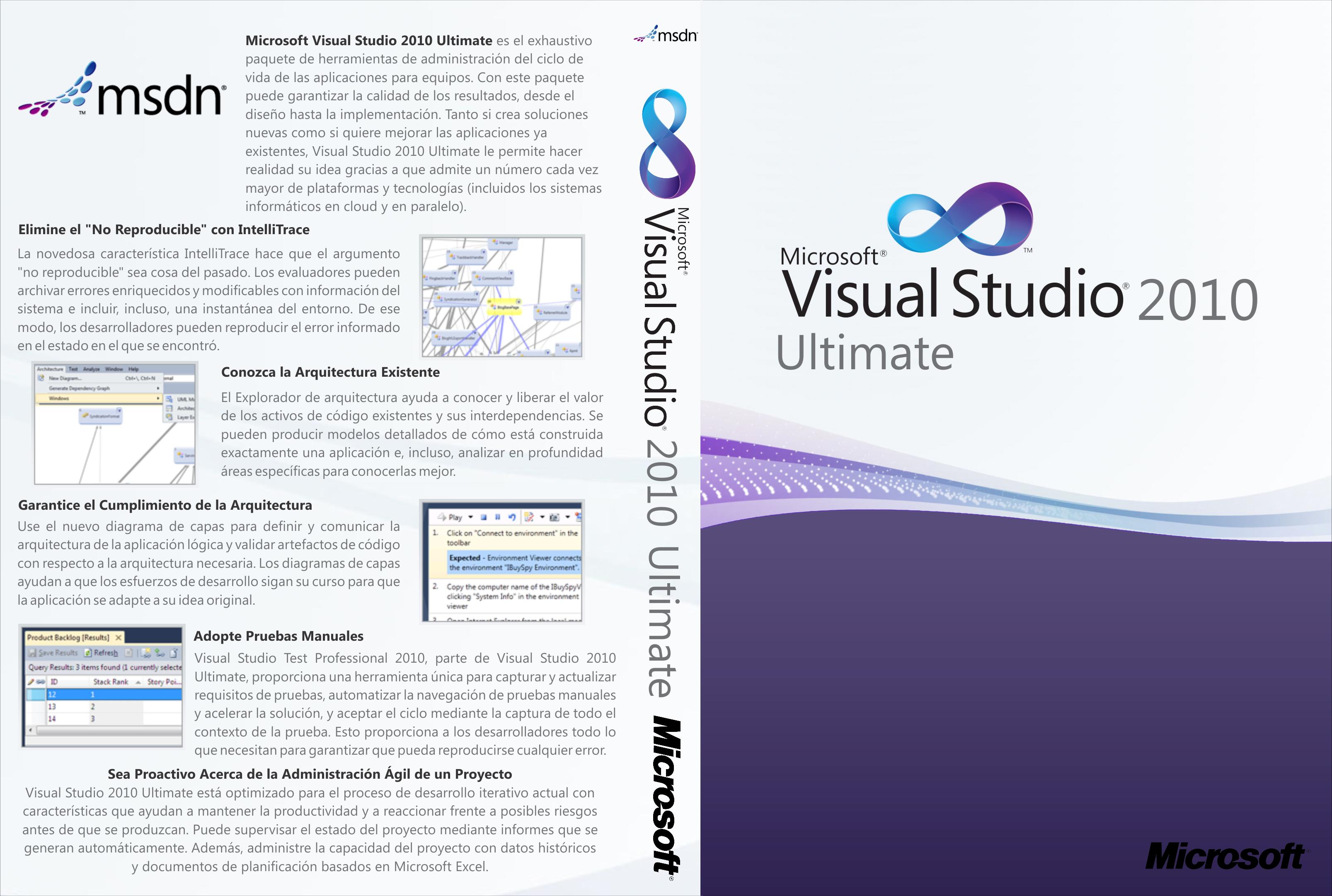 Caratula DVD de Visual Studio 2010 Ultimate