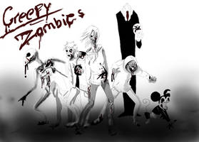 Creepy zombies by Coffee-For-The-Dead