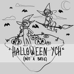 chibi halloween ych | (PRICE LOWERED) open