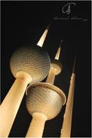 Kuwait Towers . by Almowali-Al7ur