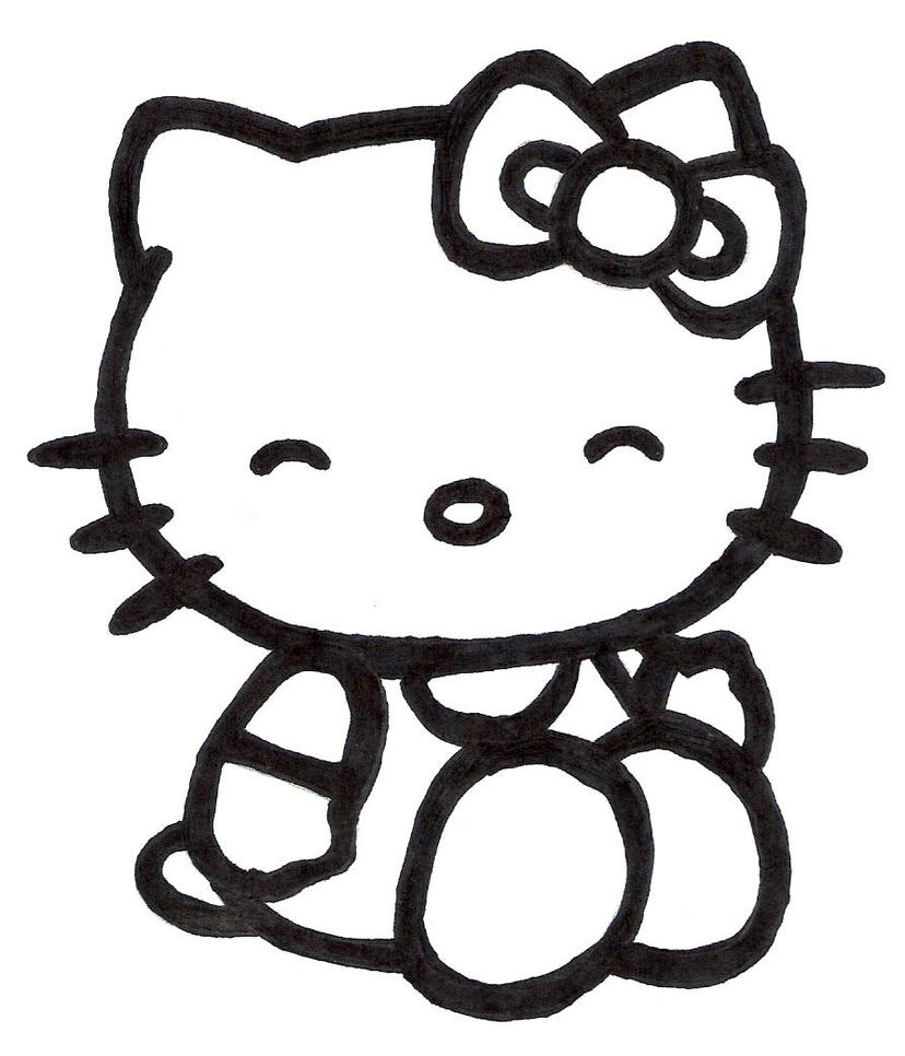 pirate hello kitty coloring pages - photo#16