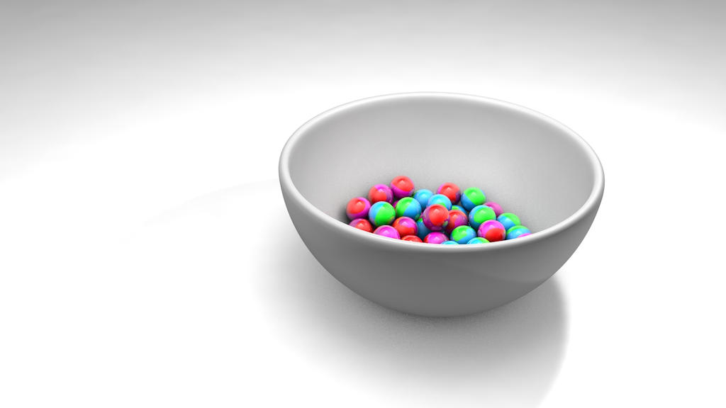Bowl with balls by Qnik20