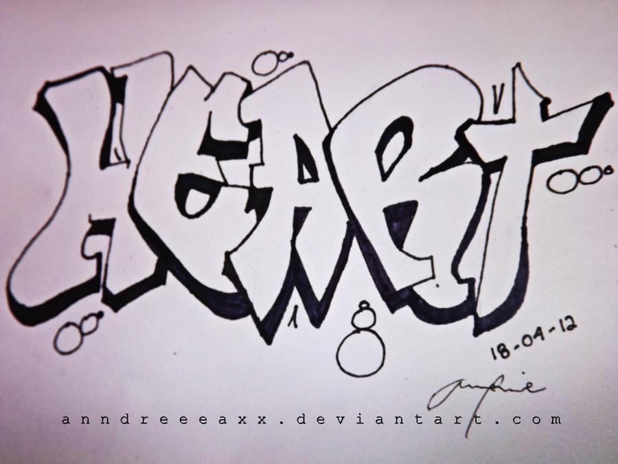 graffiti heart by Annd...