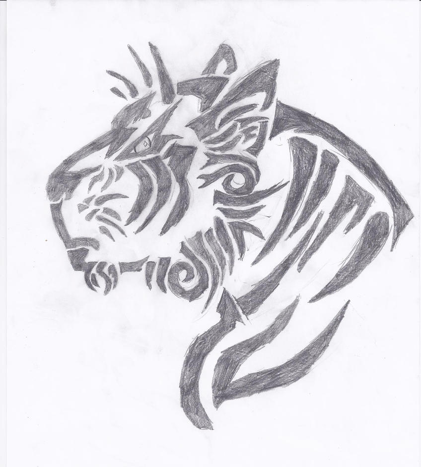 Tribal Tiger By Ruttan On Deviantart: Tribal Tiger By DawnRiverRiot On DeviantArt