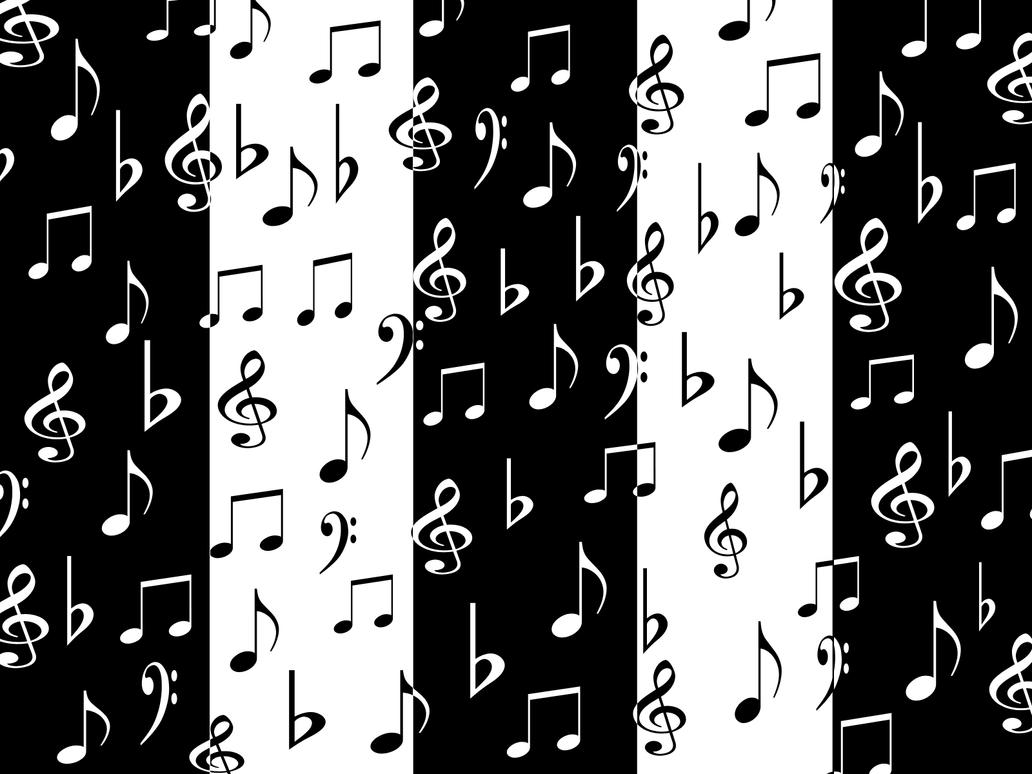 Black And White Music Notes Background Musical Notes-Black and White