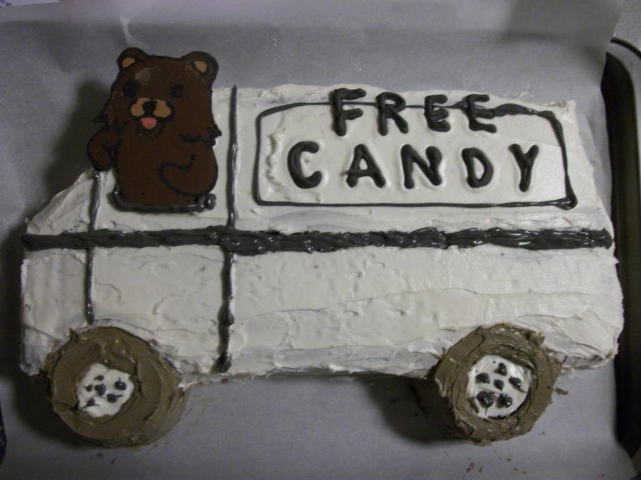 Pedobear Cake by ViciousVeggie