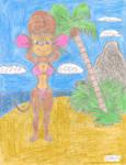 At the Beach: Tanya Mousekewitz