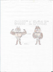 Buffed Chip N' Dale by SHREKRULEZ