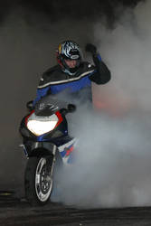 Motorcycle Burnout - Albuquerque Dragstrip by nullforce