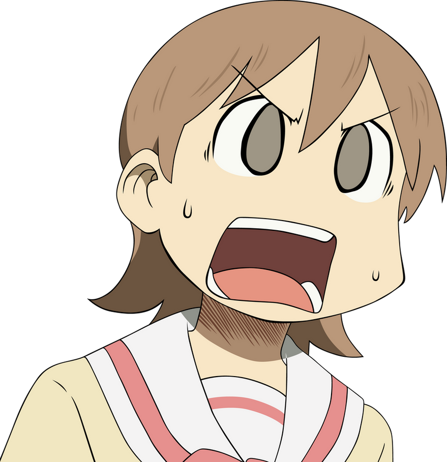 funny anime transparent: Nichijou Yukko Face By Graphicsmith On DeviantArt