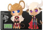 [ Zodiac Auction ] Mouse and Ox [ CLOSED ]