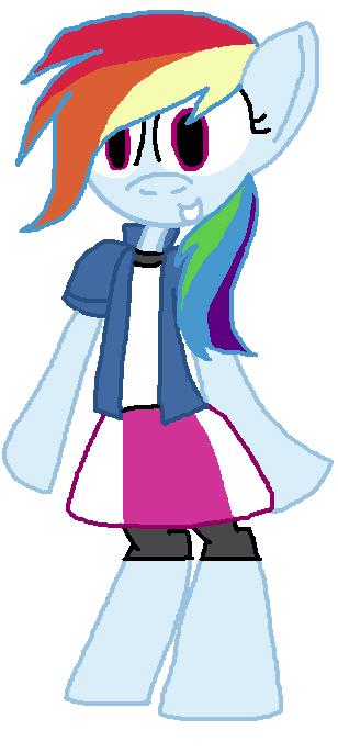 Anthro Ish Rainbow Dash Wearing Eqg Clothes By Princessviolet53737 On Deviantart