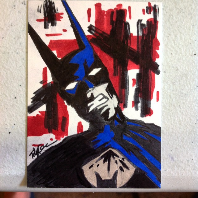 Batman art card by TJKernan