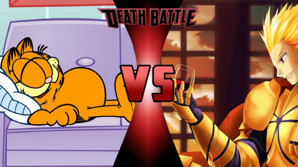 Garfield Vs Gilgamesh By Bonbooker On Deviantart