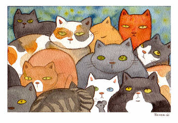 Cats by FriedaVanRaevels