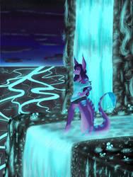 Luminous Waterfalls by DevilNyx