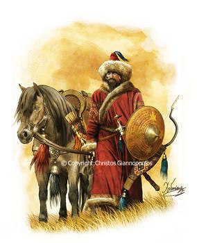 Mongol nomad cavalry, 12th century...