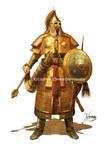 Young Temujin In Full Armor (1187 Ad)